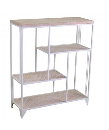Scaffale legno 4 piani bianco