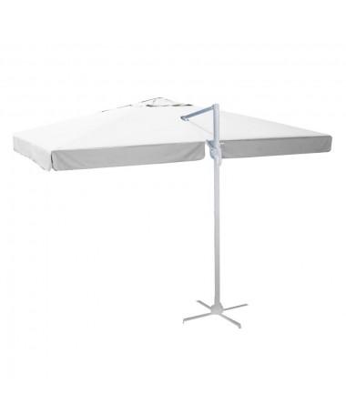Ombrellone palo laterale 3x3m bianco alluminio MICHIGAN
