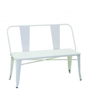 Panca ferro BRISTOL bianco con schienale