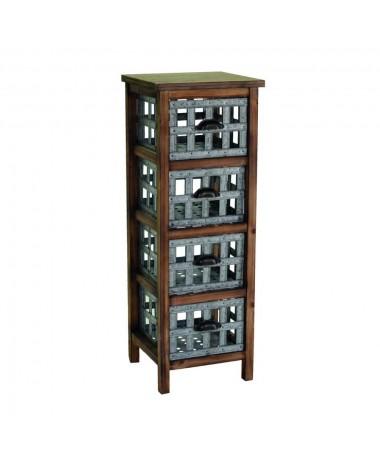 Mobile 4 cassetti marrone e grigio