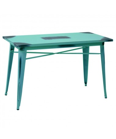 Tavolo ferro BRISTOL azzurro antico