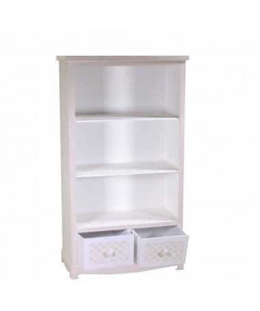 Mobile LUBECCA libreria 3 piani + 2 cassetti