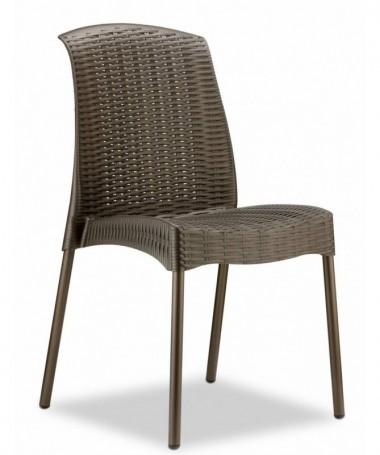 Sedia Olimpia Chair in tecnopolimero intrecciato con gambe verniciate Made in Italy - set da 6