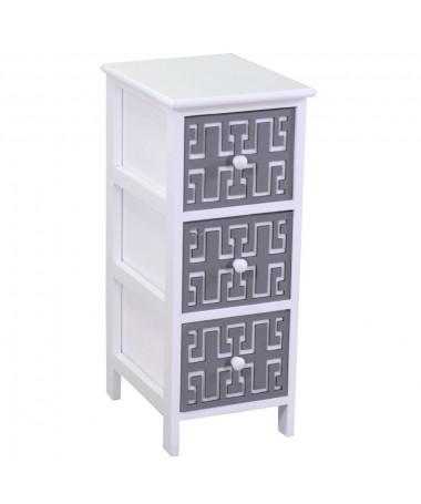 Mobiletto GIANNA bianco grigio 3 cassetti
