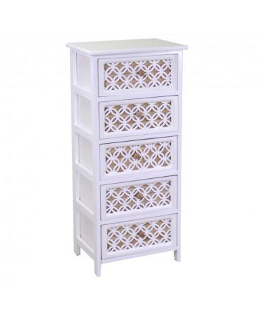 Mobiletto ROSSANA bianco 5 cassetti