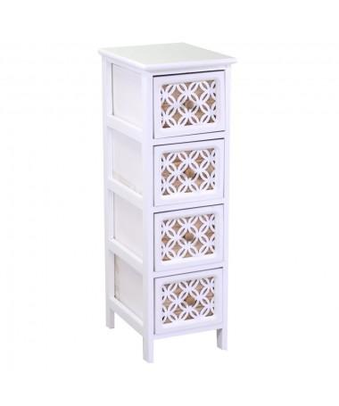 Mobiletto ROSSANA bianco 4 cassetti