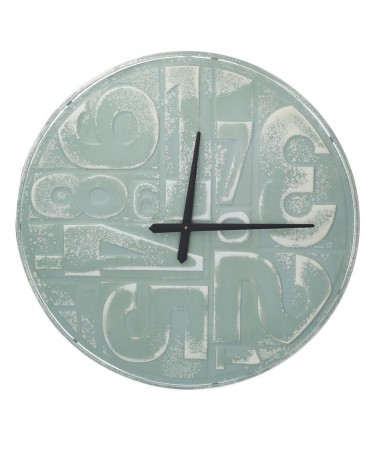 Orologio metallo numeri verde