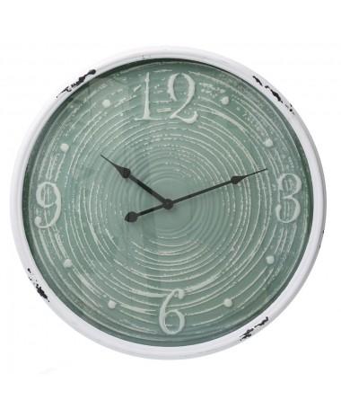 Orologio metallo bordo bianco verde