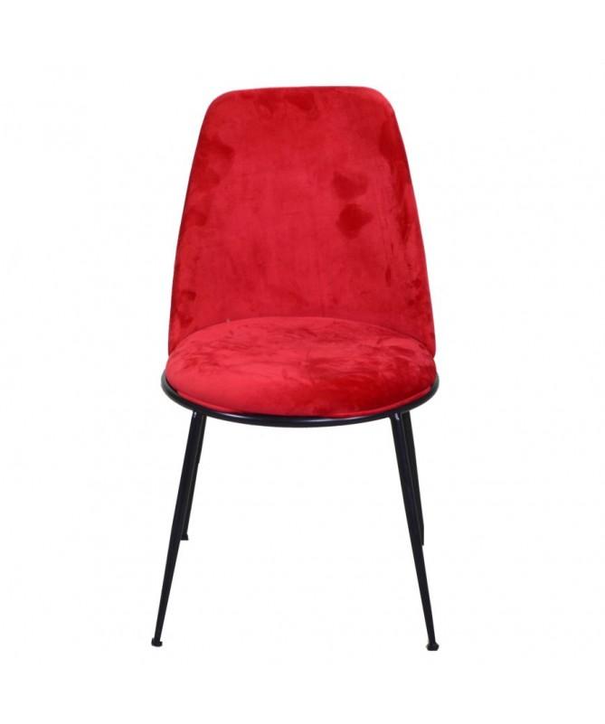 Sedia velluto ROTTERDAM rosso