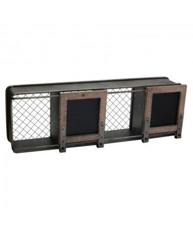 Mensola metallo legno 4 vani con lavagna