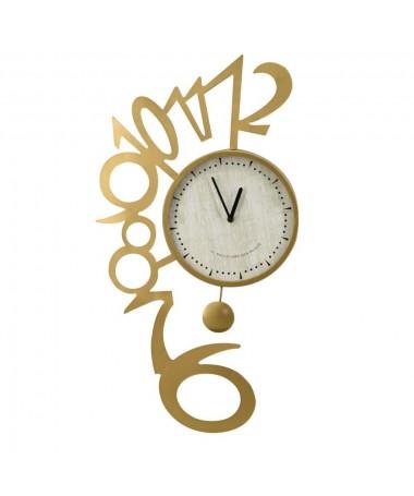 Orologio metallo oro numeri