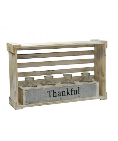 Portafiori legno bianco 4 posti
