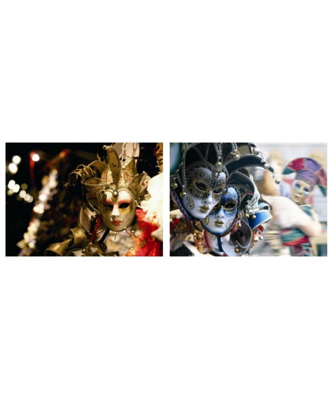 Quadro stampa astratto maschere veneziane 2 assortiti
