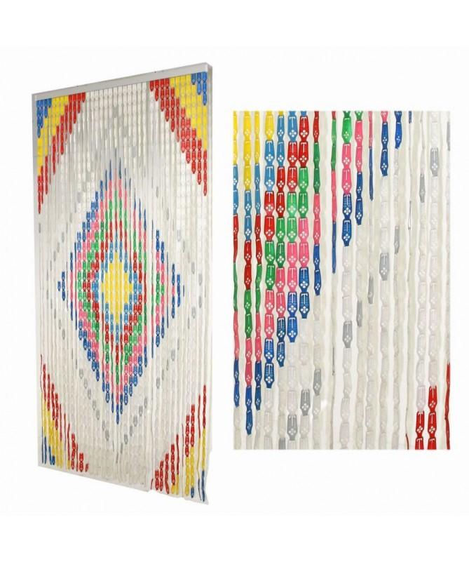 Tenda estate plastica file con rombo multicolor