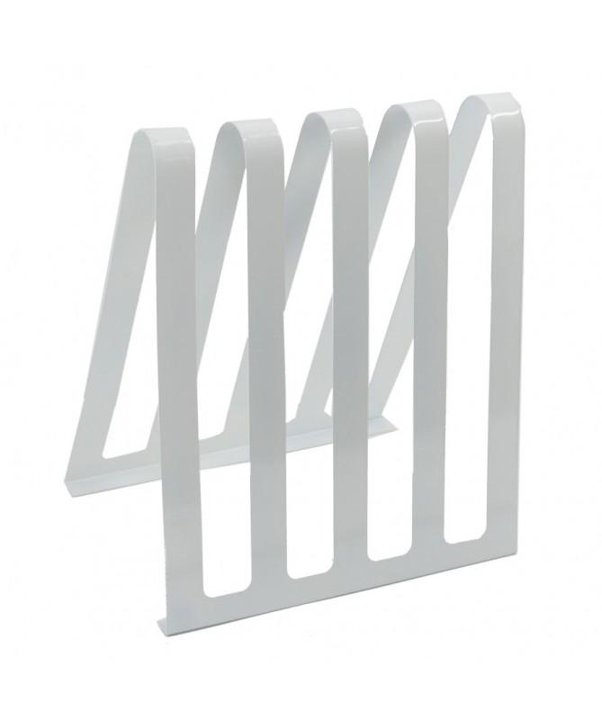 Portariviste metallo bianco 4 posti