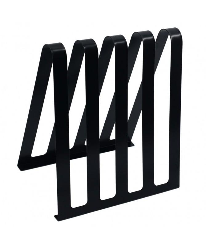 Portariviste metallo nero 4 posti