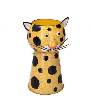 Portavaso latta leopardo
