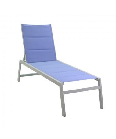 Lettino alluminio textilene ontario azzurro