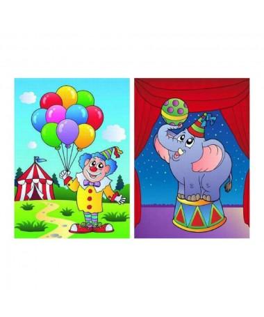 Quadro clown al circo 2 ass