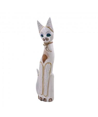 Gatto legno bianco beige