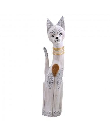 Gatto legno bianco marrone