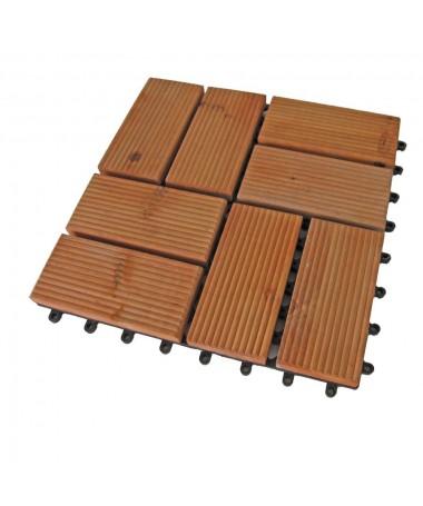 Piastrella pavimento in legno ad incastro