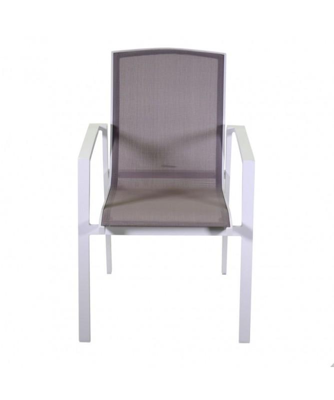 Sedia alluminio textilene tacoma bianco