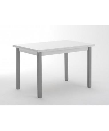 TAVOLO RHO ALLUNGABILE, piano bianco e gambe laccato alluminio MADE IN ITALY