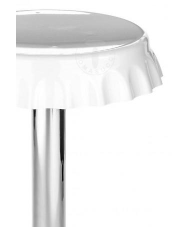 Sgabelli bar a forma di tappo - set da 2 bianco