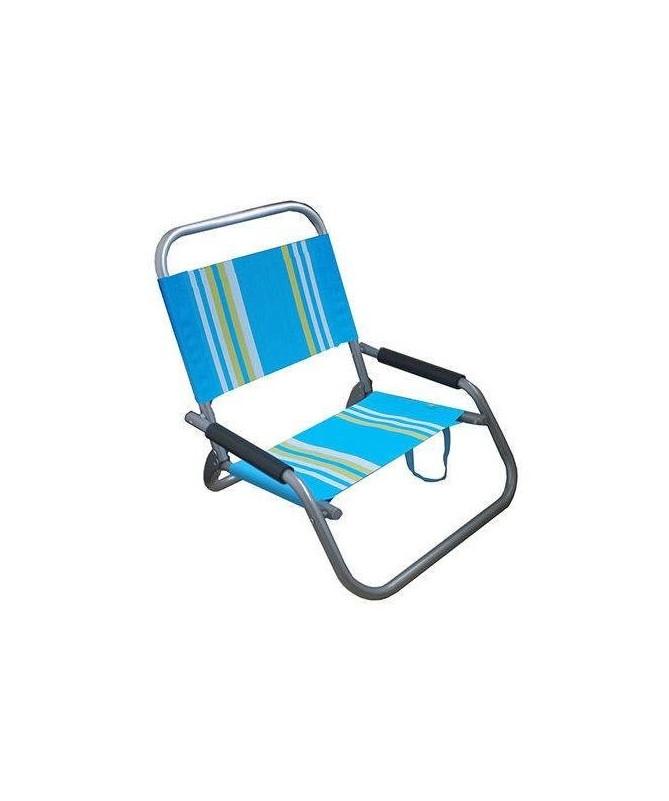 Spiaggina in alluminio e textilene con tracolla - set da 6