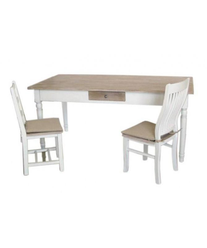 Sedia Country in legno - set da 2 bianco