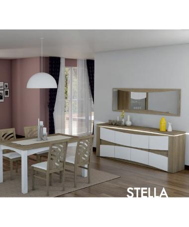 Mobile buffet contromobile 4 ante rovere/bianco Stella Made in Italy