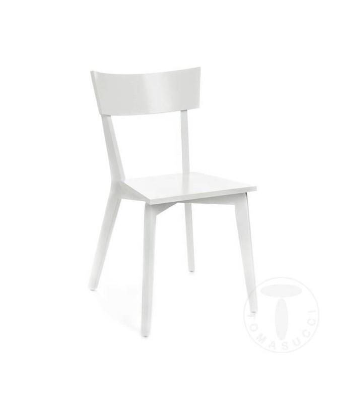 Sedia in legno massello Kyra - set da 2 bianco