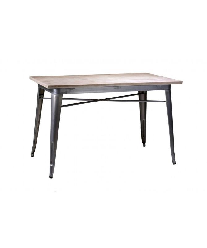 Tavolo grande in ferro Bristol - galvanizzato