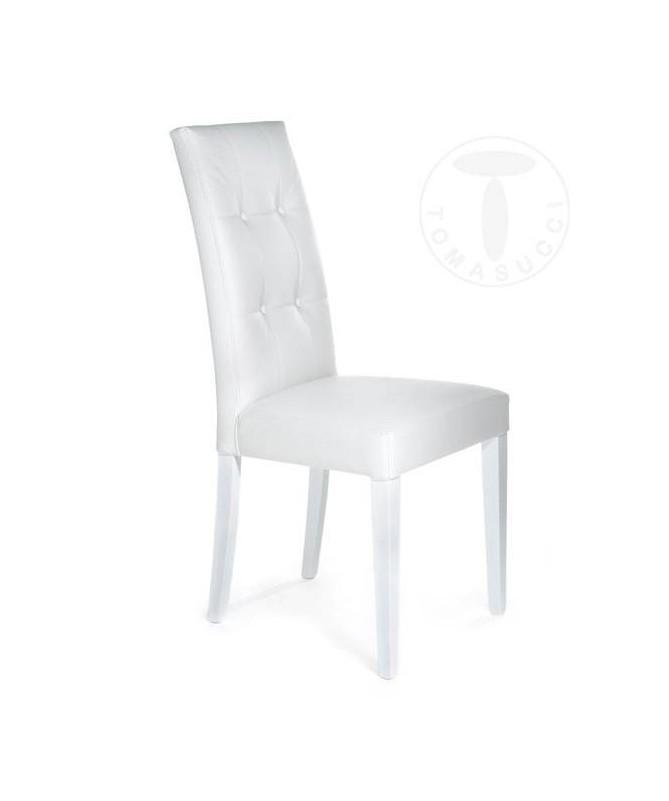 Sedia in pelle sintetica Dada - set da 2 bianco
