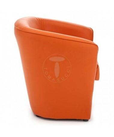 Poltrona Vanessa in pelle ecologica - arancio