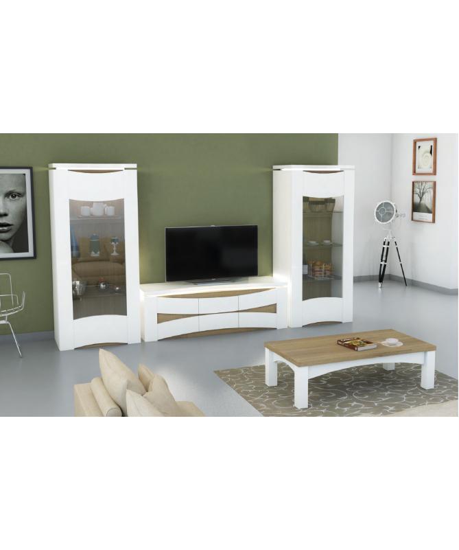 Mobile porta tv laccato bianco Stella Made in Italy
