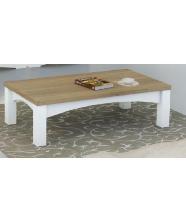 Tavolino salotto bianco/rovere Stella Made in Italy