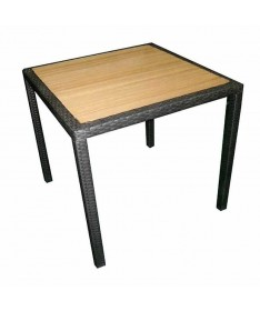 Tavolo Orleans in resin wood - 80 x 80 cm