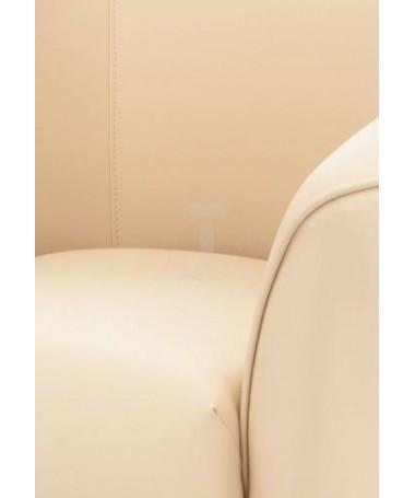 Poltrona Vanessa in pelle ecologica - crema