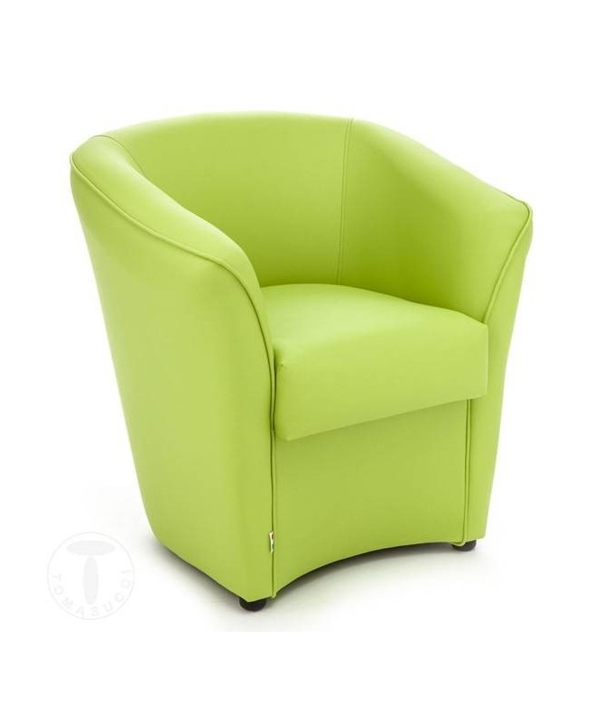 Poltrona Vanessa in pelle ecologica - verde