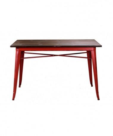 Tavolo grande in ferro Bristol - rosso