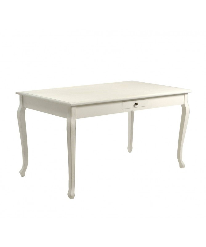 Tavolo in legno Friburgo rettangolare - bianco
