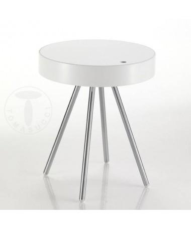 Tavolino Spok con contenitore - bianco