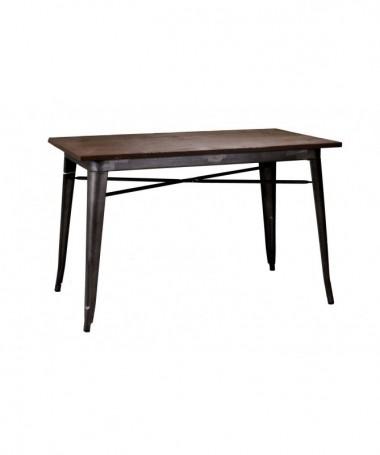 Tavolo grande in ferro Bristol - marrone