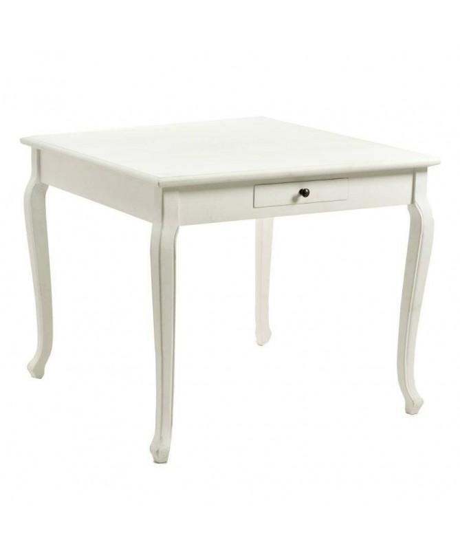 Tavolo in legno Friburgo quadrato - bianco