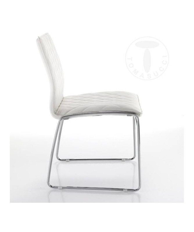Sedia in pelle sintetica Mesh - set da 4 bianco