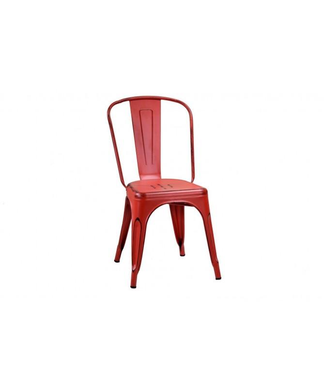 Sedia Bristol in ferro - set da 4 rosso