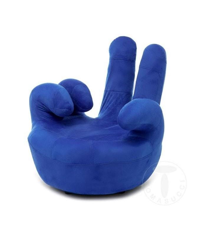 Poltrona girevole Victory a forma di mano - blu