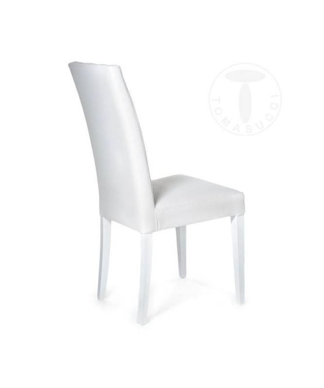 Sedia in pelle sintetica Jenny - set da 2 bianco